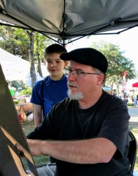 Mark the Caricature Artist - Cornyval Festival